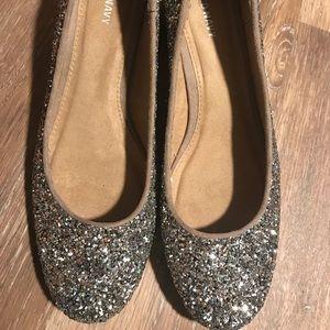Old Navy Glitter Kitten Heels